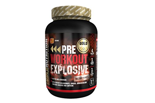 GoldNutrition Pre-Workout Explosive Suplemento para Deportistas