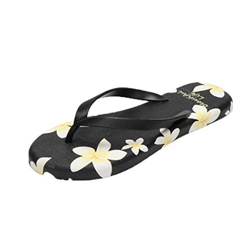 Saingace Sommer-Frauen Sandalen Flip-Flops Sandy Beach Badeschuhe Schuhe Schwarz zWZmxPyH