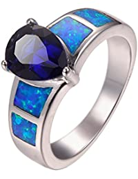 AAA Rainbow Sapphire Ring in Rhodium Plated Silver 4.750 Ct.