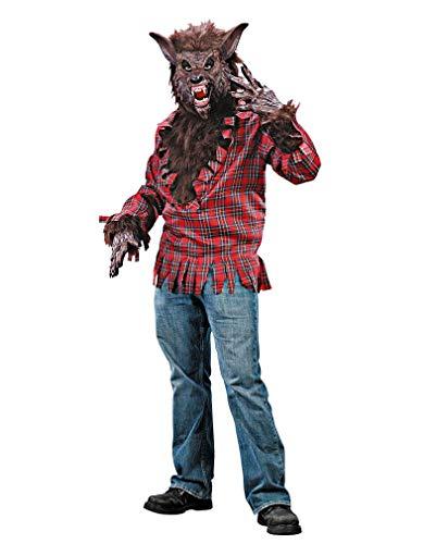 Halloween Werwolf Kostüm Braun (Werwolf Kostüme Füße)