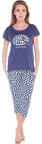 Italian Fashion IF Pyjama Femme Cupid 0225 Navy/Navy