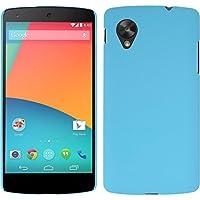 Funda Rígida para Google Nexus 5 - goma azul claro - Cover PhoneNatic Cubierta + protector de pantalla