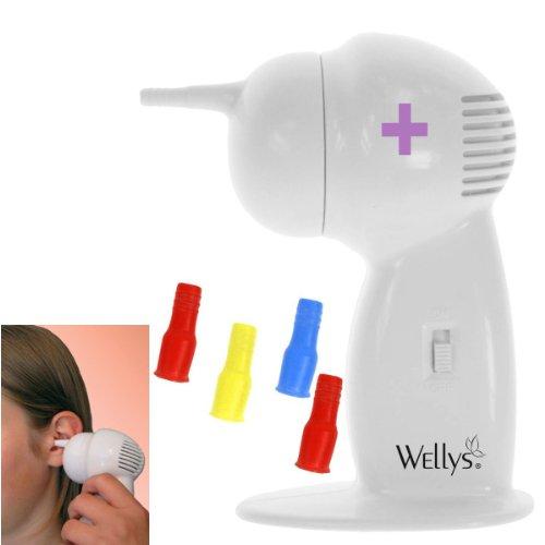 Heim & Büro Ohrreiniger zur Ohrenpflege deluxe | für Kinder + Erwachsene | vier Soft-Aufsätze | Reinigungsbürste