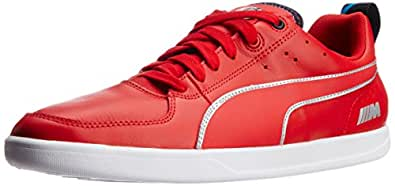 Puma Men's BMW M Power High Risk Red, White and Black Leather Running Shoes - 10UK/India (44.5EU)