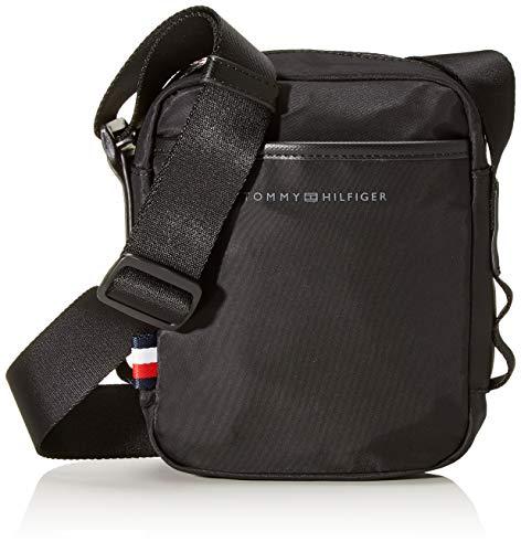 Tommy Hilfiger Herren Sport Nylon Mini Reporter Schultertasche, Schwarz (Black), 6.5x20x16.5 cm -