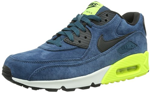 Nike Air Max 90 333888, Herren Low-Top Sneaker Blau (Night Factor/Night Factor/Volt/Cool Grey)