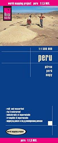 Perú, mapa impermeable de carreteras. Escala 1:1.500.000. Reise Know-How.