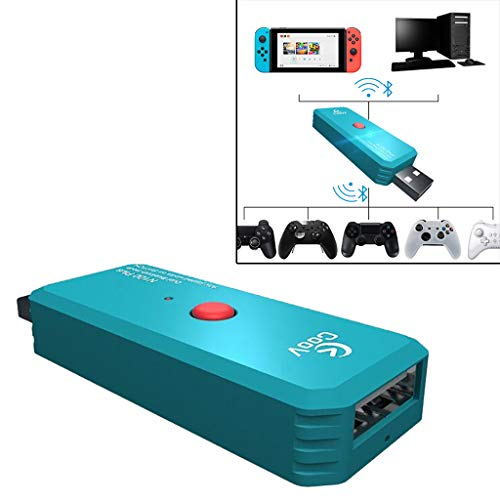AMhomely® 2019!Wireless Controller-Konverter - Wireless Handle Converter Adapter für Sony Playstation PS4 für Nintendo Switch / NG (Blau)