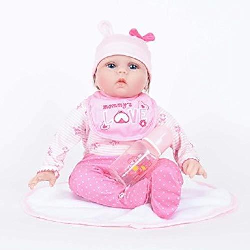 Unexceptionable-Dolls Reborn Puppe Mädchen Puppe Baby Mädchen 22 Zoll Silikon Vinyl-lebensechte handgemachte süße Kind sicher Kinder / Teen ungiftig Kinder Unisex Spielzeug Geburtstag, Pink (Mädchen Doll Baby Silicone)