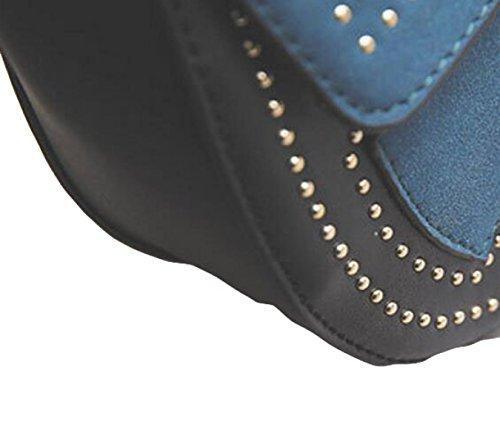 Sattel Taschen Mode Scheuern Taschen Nieten Schultertasche Handtaschen Yellow