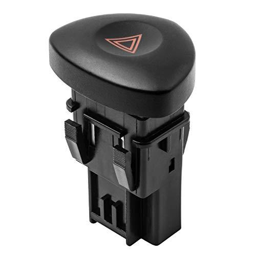 YAOPEI Bouton Interrupteur de Feux de Détresse Noir 8200442723