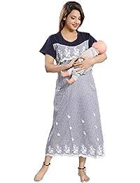 9e8f09cb15a Soulemo Womens Embroidery Feeding Nursing Maternity Dress for Pregnancy. 731