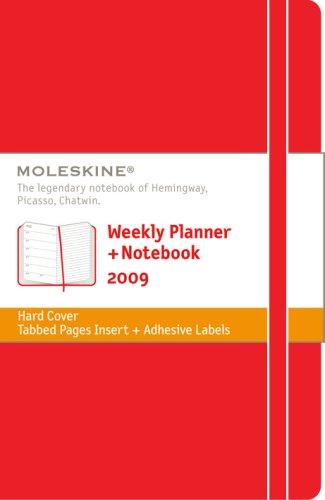 Moleskine Weekly Planner + Notebook-Red