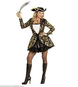 WIDMANN wdm59111?Disfraz Capitán pirata, Negro, Small