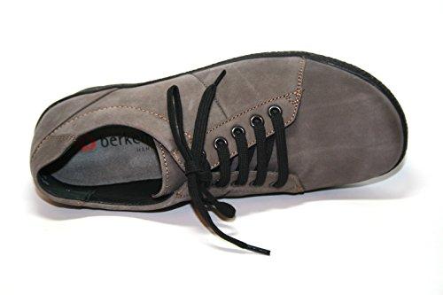 Berkemann , Chaussures de ville à lacets pour femme Vert Vert Grau (stone Nubuk 967)