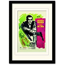 James Bond Doctor No French One Sheet A3 Framed and Mounted Print