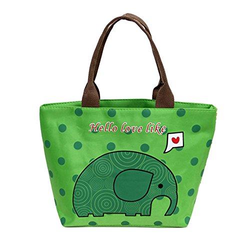 KonJin Picknick mit Aufbewahrungstasche Lunchpakete für die Arbeit Lunchpakete mit Behältern Mittagessen Thermisch isolierte Tote Picknick Mittagessen Cool Bag Cooler Box Handtasche Pouch