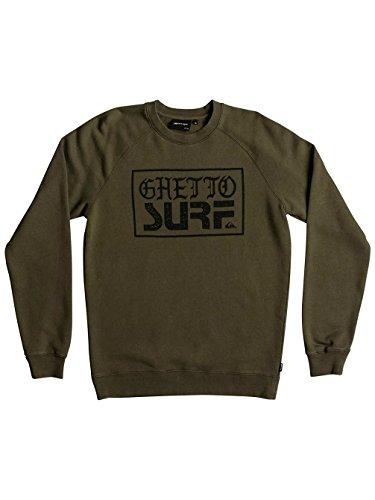 Herren Sweater Quiksilver Ghetto Surf Crew Sweater Olive Night