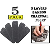Babymoon (Set of 5) 5 Layers Bamboo Charcoal Inserts Liners Natures Cloth Diaper Liner, Wetfree Reusable Washable Cotton Diaper Nappy Inserts for Baby Cloth Diapers (Set of 5)
