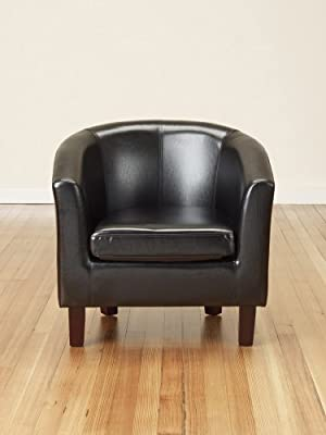 Bonded Leather Tub Chair Armchair for Dining Living Room Office Reception - low-cost UK chair store.