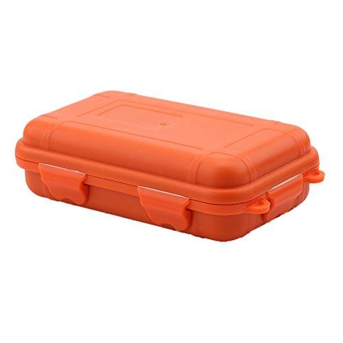 VGEBY Outdoor Aufbewahrungsbox Shockproof wasserdichte Storage Box Plastik Box für Outdoor/Camping/Bootsport/Survival (Farbe : Orange, Abmessung : L)