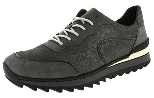 Rieker M6912-42, Scarpe stringate donna grigio Grau 36 grigio (grigio)