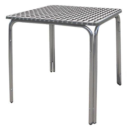 Papillon 8042010 Mesa Terraza Aluminio 60x60x70 cm. Apilable ...
