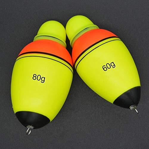 WARM home Draussen 3,9 cm / 40 g, Angelgerät Elektronisches Nachtlicht Floater Luminous Float Bobber Werkzeug (Großauswahl : 80g)