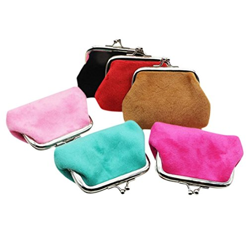 Portefeuille Femme Kolylong Femmes Corduroy Holder Small Wallet Porte-Monnaie Clutch Sac à Main