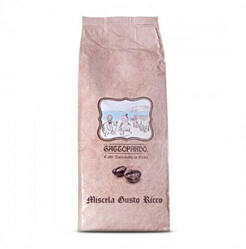 JSD Caffe' GATTOPARDO TO.da. caffè GRANI in Busta SOTTOVUOTO da 1 kg Miscela Gusto Ricco (5 kg)