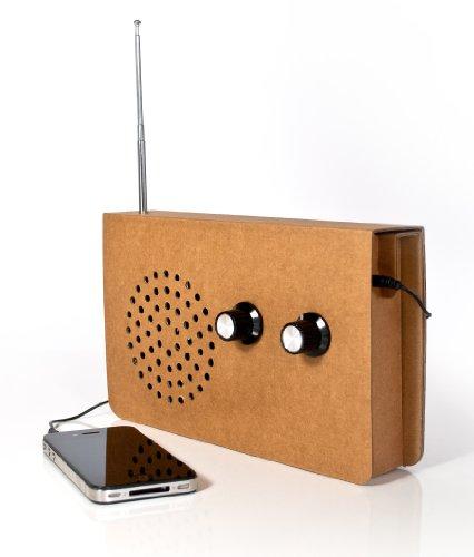 SUCK UK Klassisches Karton-Radio und MP3-Player