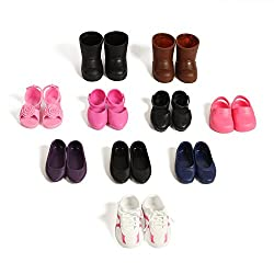 Beverly Hills Doll Collection 10 Pairs Of Shoes Fits 18 Doll