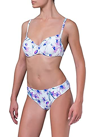 Damen Blumen Fantasie Bikini set lila farbe SMALL