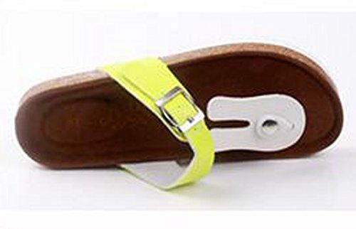 SK Studio Plat Unisexe Sandale en liège antidérapant extérieur Leisure Plage Pantoufles Lapin blanc