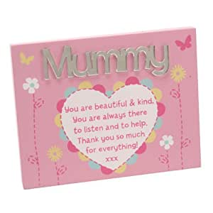 Mother's Day Gift - Mummy Wall Plaque