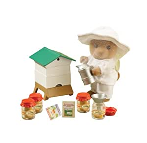 Sylvanian Families – L'Apiculteur et sa Ruche – Beekeeper and Beehive (Figurine et Accessoires)