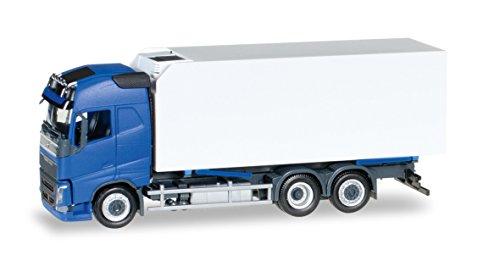 Herpa 307079–Vehículo, Volvo FH GL. Nevera maletín de Camiones, Color Azul/Blanco