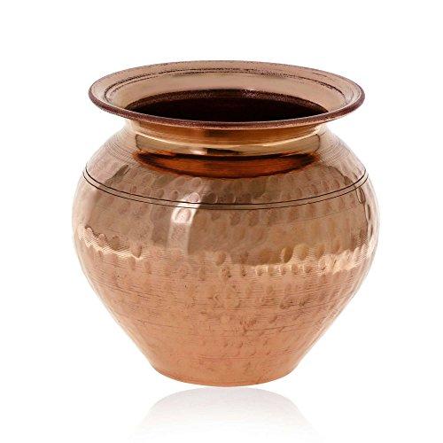 Cuivre jug ayurvédique produit eau pichet lota indien à la main