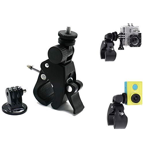 Soporte de Cámara Deportiva para Manillar de Bicicleta y Moto- Base Universal [Antideslizante] para Nikon Canon Olympus Fujifilm Samsung y Go Pro