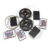 Eliky RGB 50-200cm 5050 Wasserdichte flexible Lampe LED-Lichtleiste + 24 Tasten Fernbedienung