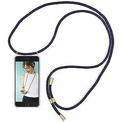 RebelCords Handykette kompatibel mit iPhone 6 / iPhone 6s Smartphone Handykette Handyhülle mit 1.5m Band | Farbe: Blau