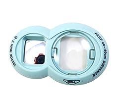 Fujifilm Instax Mini 88+ Mini 7s Mini 9Close Up Objektiv Instax Selfie Objektiv Für Fujifilm Instax Mini 9Mini 8Mini 8+ Mini 7s Instant Film Kamera, Blau, Circles