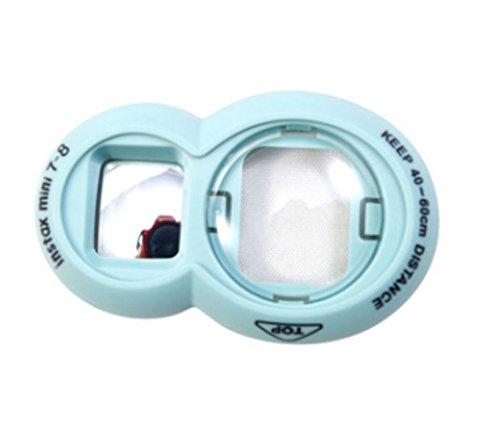 homeyuser Fujifilm Instax Mini 8/Mini 7s Mini 9, mit Instax Selfie Objektiv für Fujifilm Instax Mini 8Mini 8+ 8Mini-Kamera Mini 7s Instant-Film, blau, Circles