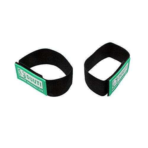 2 Stücke Hosen Klettband, Hosenband mit Klettverschluss, Selbstklebend zum Joggen, Radfahren, Reiten usw. - Grün