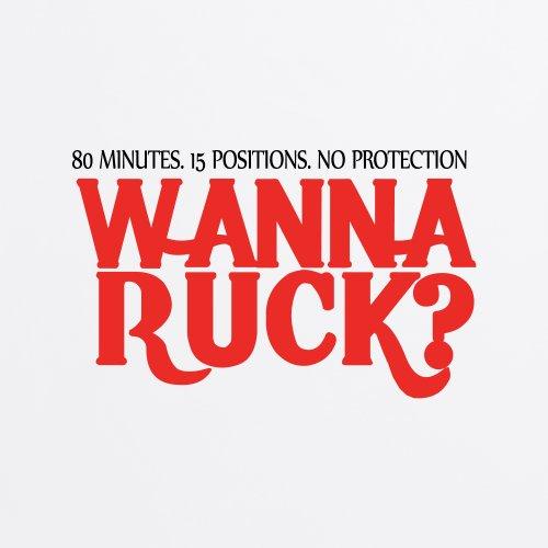Wanna Ruck? T-Shirt, Herren Wei