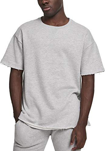 Urban Classics Herren HerirngboneTerry Tee T-Shirt, Grau (Lightgrey 00143), X-Large (Herstellergröße: XL) - Grau Classic-shirt