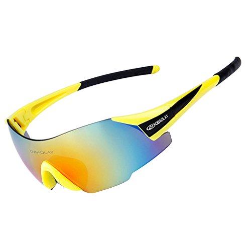 Vitalite anti-buée pour vélo lunettes de soleil polarisées pour conduite de Course Racing noir Noir QKjjH0r