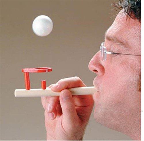 Forfar 1pc Kinder Holzflöte Blasen Balance Schwimmendes Ballspiel Kinder pädagogisches Spielzeug für Kinder