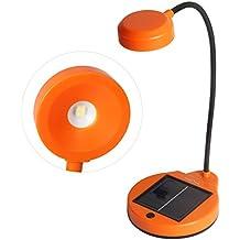 Sidiou Group Regalos Lámparas banco de la energía lámparas recargables USB Lectura de escritorio Energía solar flexible luz de la lámpara o la lámpara principal de iluminación creativa (naranja)