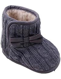 Vovotrade Bebé Bowknot suavemente único de invierno zapatos calientes Botas